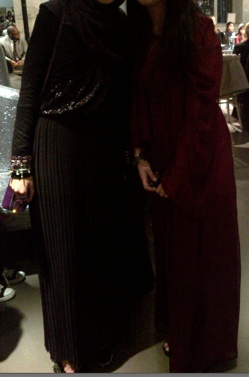 my friend Fatimah and I it was her aunty's fashion show