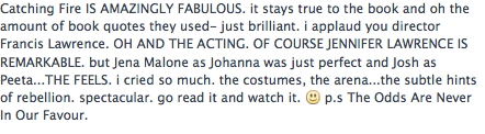 my fb status after i watched CF