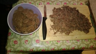 Chocolate Buttons and Chocolate cut into chunks!!!