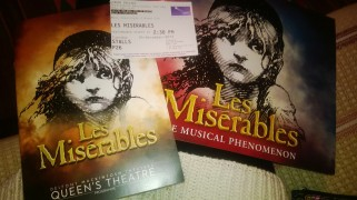 Les Miserables programme