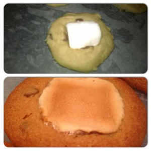 Before and After- it's a perfect balance between gooey, soft and crunchy!