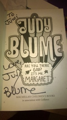 STILL CAN'T BELIEVE I MET JUDY BLUME!!! =D